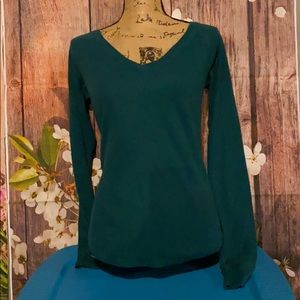 3/$25 Pink long sleeve green shirt size medium